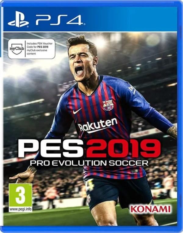 Pro Evolution Soccer 2019 Playstation 4 cover