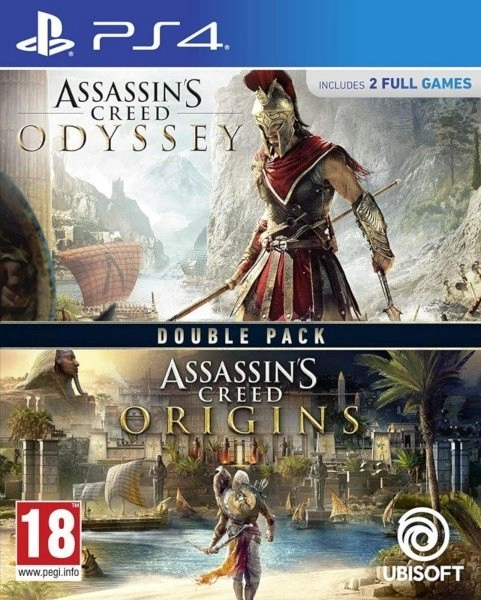 Assassin's Creed Odyssey + Origin Playstation 4 cover