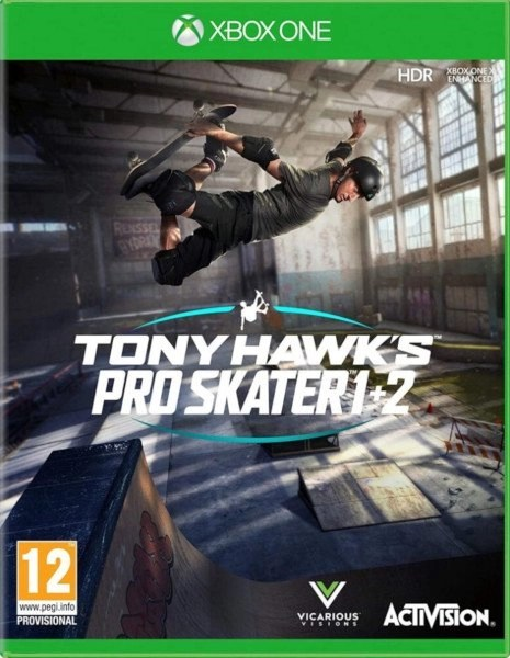 Tony Hawk's Pro Skater 1 + 2 Xbox One cover
