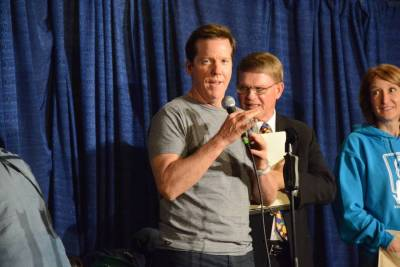 Raffle fun with Jeff Dunham, Mark Wade and Lisa Sweasy