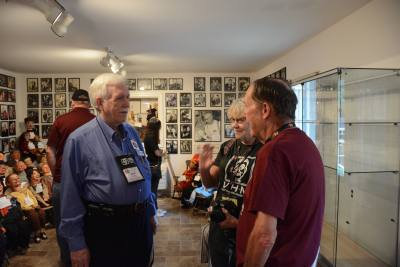 VHM Director Bob Wylly talking with vents