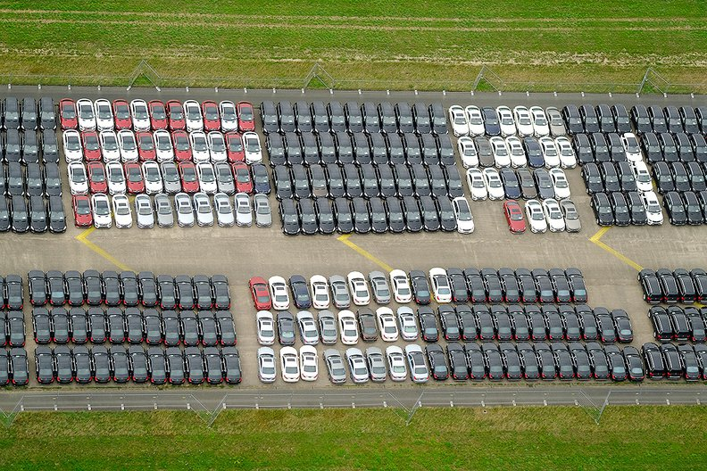 Mercedes vehicles pile up at German airport as supplier triggers bottleneck