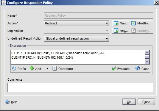 Netscaler Redirecting a URL based on client subnet |