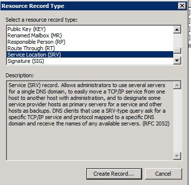 SRV Record