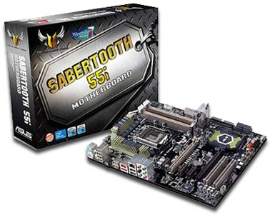 ASUS Sabertooth 55i motherboard TUF Series
