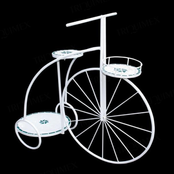 kệ hoa bằng sắt mỹ nghệ hình xe đạp