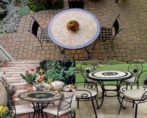 bàn ghế sắt sân vườn tp hcm mosaic