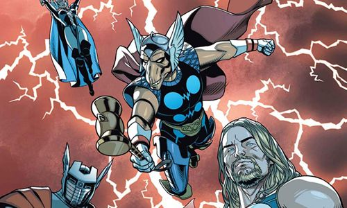 "[Microrreseñas]  ""Secret Wars. Thors #1-4"" (Jason Aaron y Chris Sprouse, Panini Cómics)"