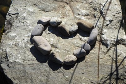 Heart made of stones