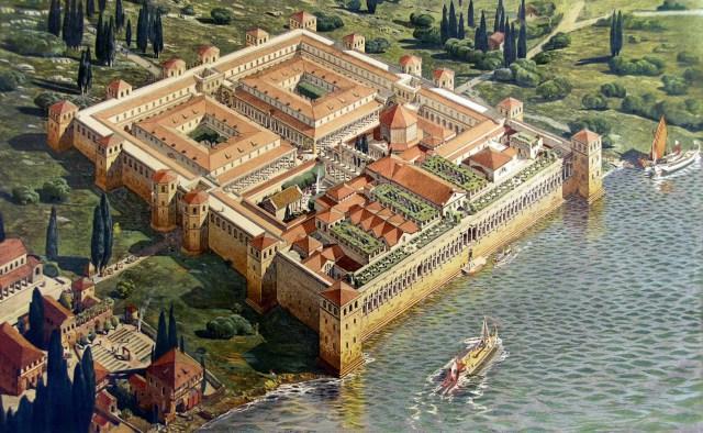 A cidade de Split na Croácia - o palácio de Diocleciano