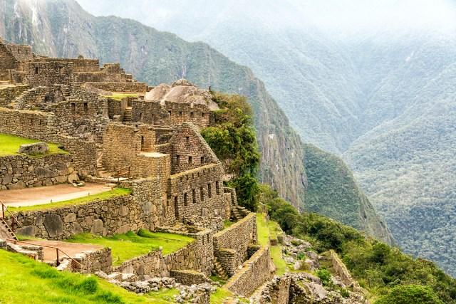 Vista das ruínas de Machu Picchu, no Peru