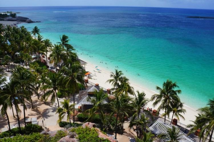 Vista da Beach Towers no hotel Atlantis