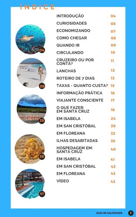 Guia de viagem de Galápagos