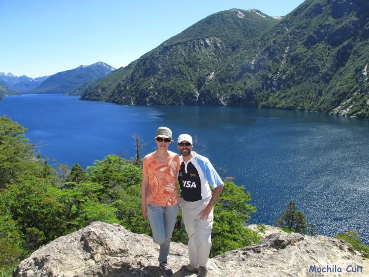 Eu e o Esteban curtindo essa paisagem imponente