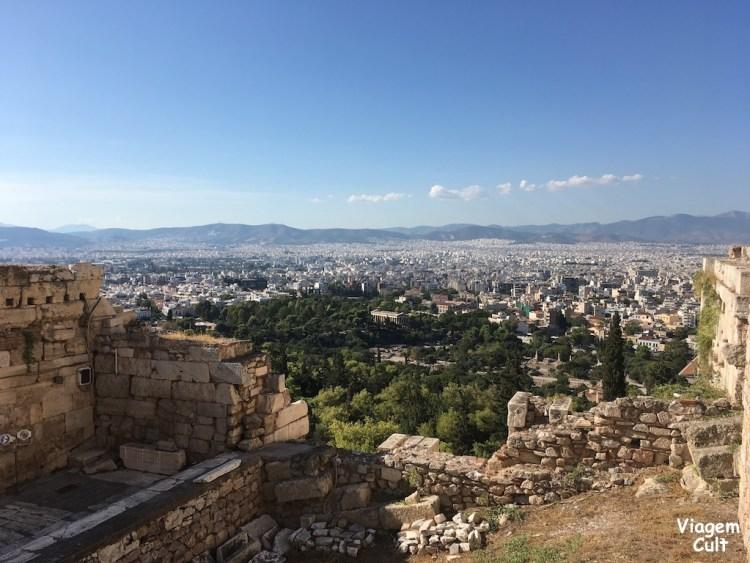 vista da acropolis, atenas