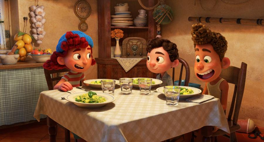 Cena de Luca com trenette al pesto