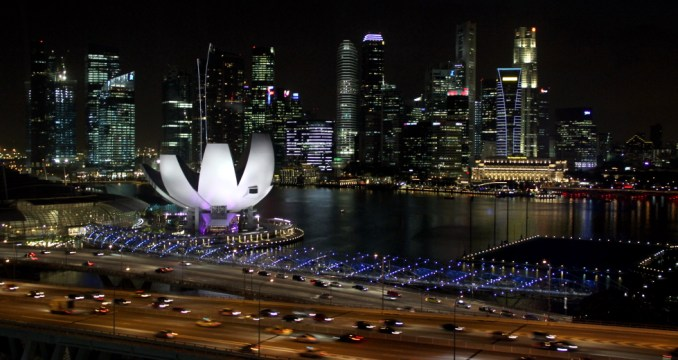 Cingapura vista de uma das cabines da Singapore Flyer (foto: Eduardo Vessoni)