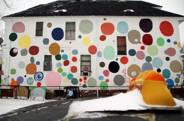 Heidelberg Project, em Detroit (foto: Eduardo Vessoni)