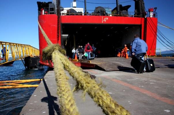 Embarque em Puerto Natales
