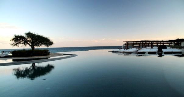 Detalhe da piscina do Las Ventanas al Paraíso, no México (foto: Eduardo Vessoni)