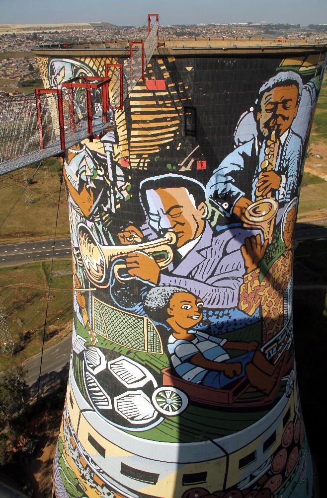 Torres de Orlando, no Soweto, África do Sul (foto: Eduardo Vessoni)