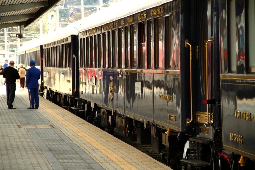 Orient-Express, durante parada em Innsbruck, na Áustria (foto: Eduardo Vessoni)