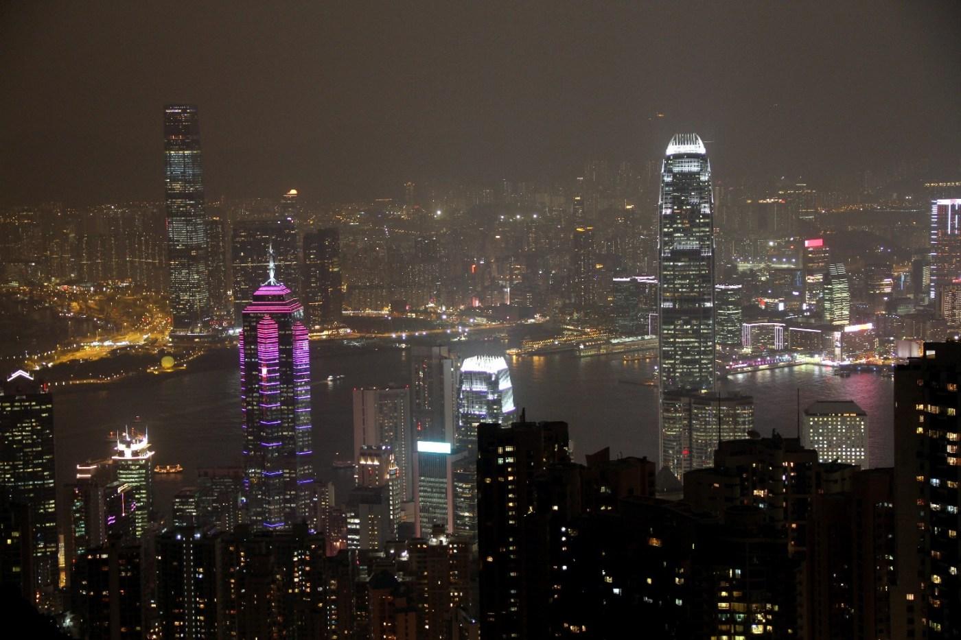 Hong Kong vista da torre The Peak (foto: Eduardo Vessoni)