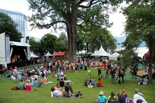 Parc Vernex, um dos locais com shows gratuitos no Montreux Jazz Festival, na Suíça (foto: Eduardo Vessoni)