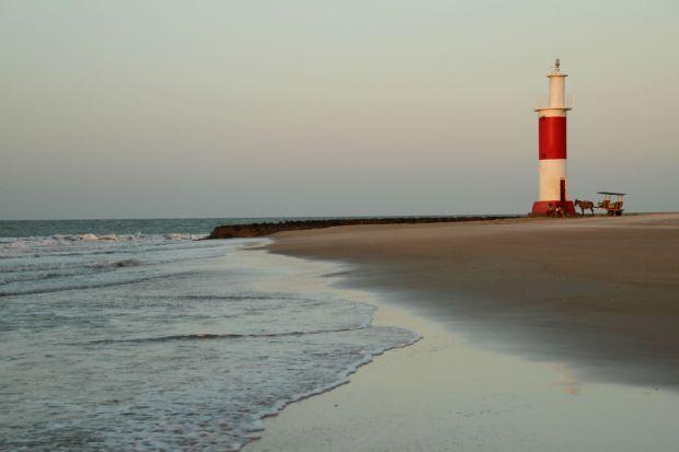 Final de tarde na praia do Farol (foto: Eduardo Vessoni)