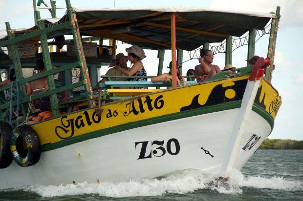 Embarcação em Galinhos, no Rio Grande do Norte (foto: Eduardo Vessoni)