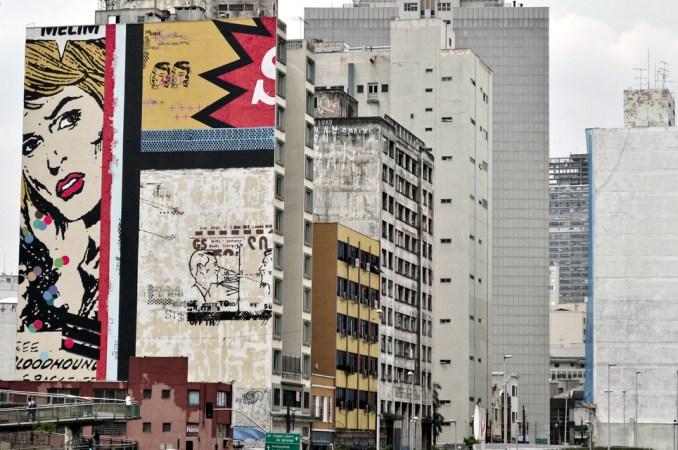 Vista do trabalho de Daniel Melim, no Centro de São Paulo (foto: Paulisson Miura/Flickr-Creative Commons)