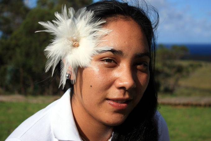 6) CONHECER SUA GENTE: Simpática e de sorriso fácil, a população local da Ilha de Páscoa é um dos destaques desse destino (foto: Eduardo Vessoni)