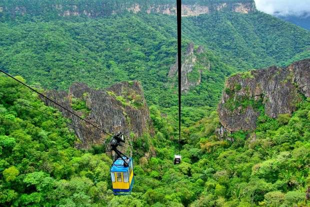 Bondinho do Parque Nacional de Ubajara, no Ceará (foto: Otávio Nogueira/Flickr-Creative Commons)