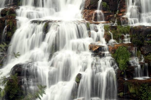 Alḿécegas I, cachoeira em Alto Paraíso, na Chapada dos Veadeiros (foto: Eduardo Vessoni)