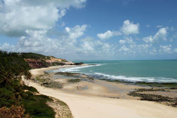 Praia do Amor vista do Chapadão, em Pipa (foto: Eduardo Vessoni)