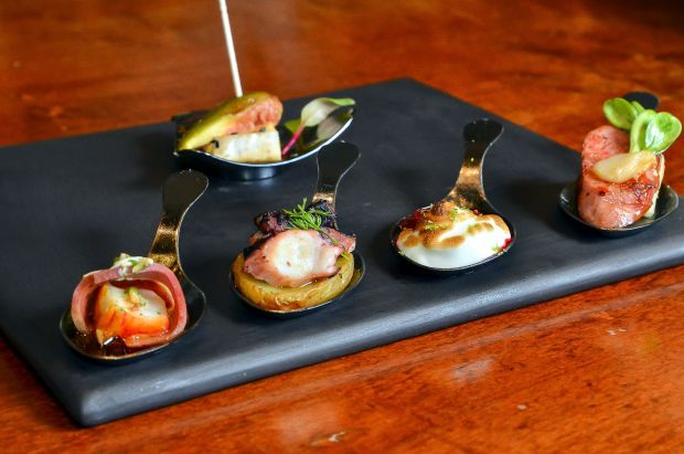 Polvo com páprica e batatas, no Hub Food Art Lounge (foto: Divulgação)