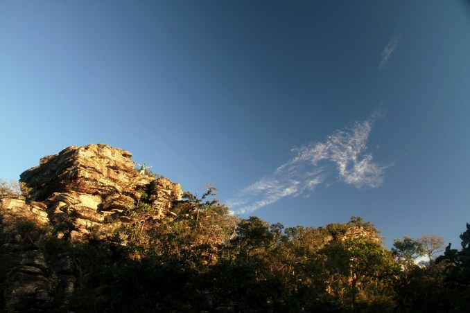 Final de tarde na Serra Dourada (foto: Eduardo Vessoni)