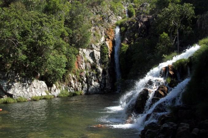 Capivara (dir.) e Tiririca (esq.), cachoeiras de Cavalcante (foto: Eduardo Vessoni)