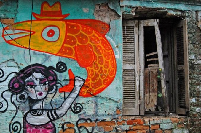 Detalhe de uma das casas da Vila Itororó, conjunto residencial histórico que será transformado em centro cultural, na Bela Vista, em São Paulo (foto: Dennis Fidalgo/Flickr-Creative Commons)