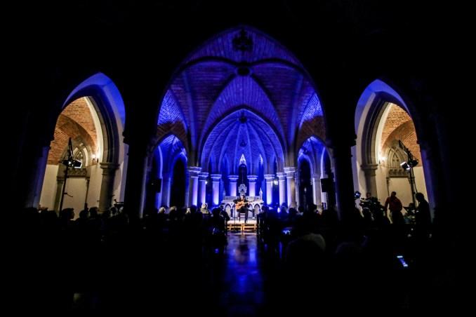 Show na cripta da Catedral da Sé, no centro de São Paulo (foto: Divulgação)