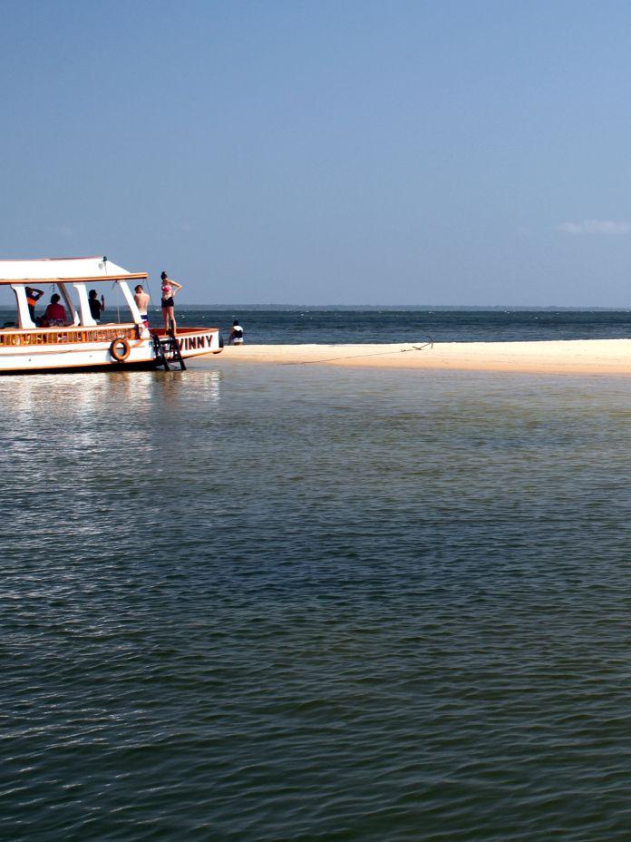 6 praias de água doce