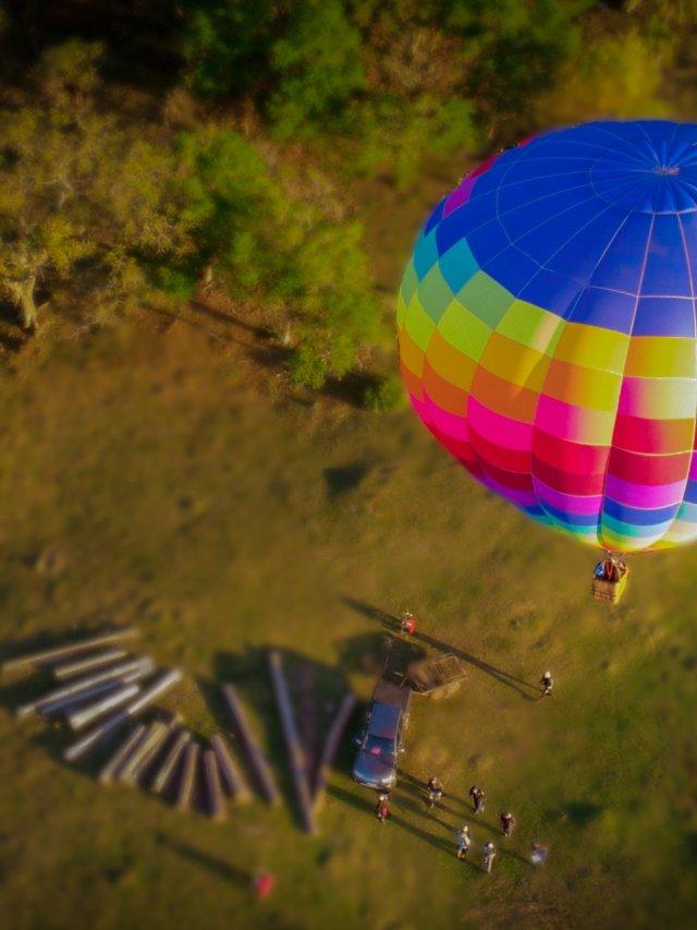 Balão nos cânions do Sul do Brasil