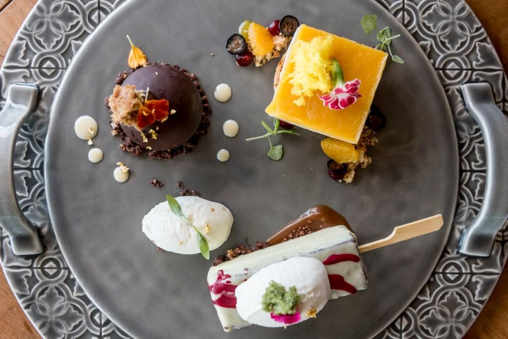 O trio de sobremesas: difícil saber qual é mais gostosa (mas eu fico com o tiramisù)