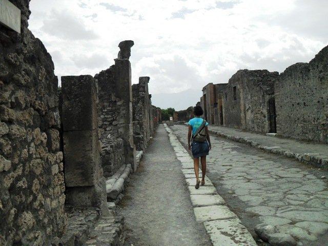 Ruínas da Antiga Pompeia na Itália
