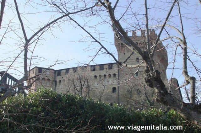 Castelo de Gradara na Itália