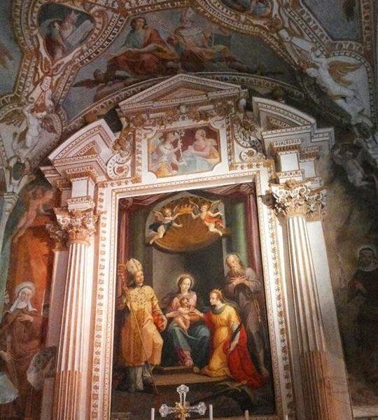 Mosteiro de Santa Catarina del Sasso, no Lago Maggiore