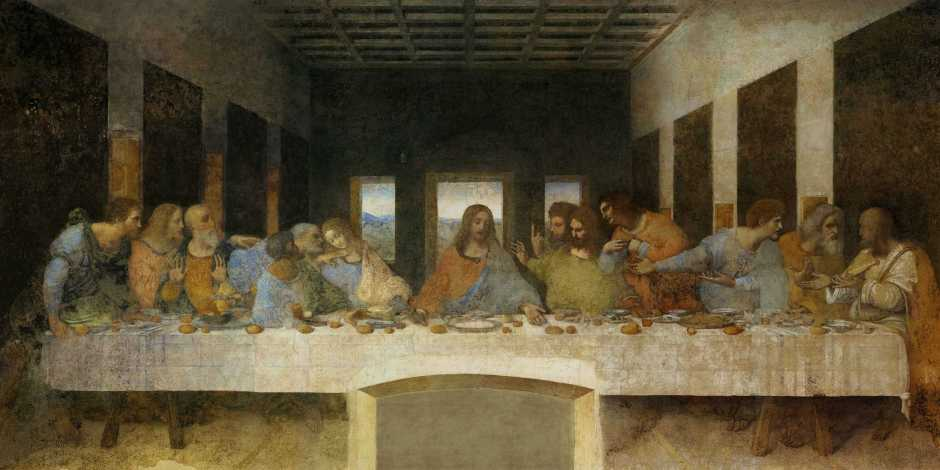 Biografa e obras de Leonardo da Vinci na Itália: A Santa Ceia, Milão