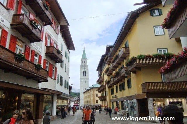 Centro de Cortina d'Ampezzo.