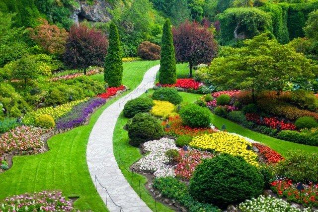 Jardim mais bonito do mundo.