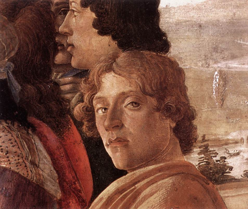 Biografia e obras de Botticelli na Itália. Autorretrato de Sandro Botticelli